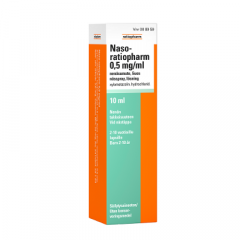 NASO-RATIOPHARM 0,5 mg/ml nenäsumute, liuos 10 ml